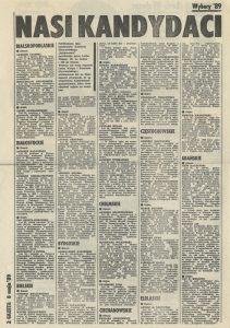 """1989-05-08-gazeta-wyborcza-nr-1_str-2-211x300 Kandydaci Komitetu Obywatelskiego """"Solidarność"""""""