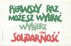 kartka-pierwszy-raz-mozesz-wybrac czerwiec1989 - polska droga do wolności
