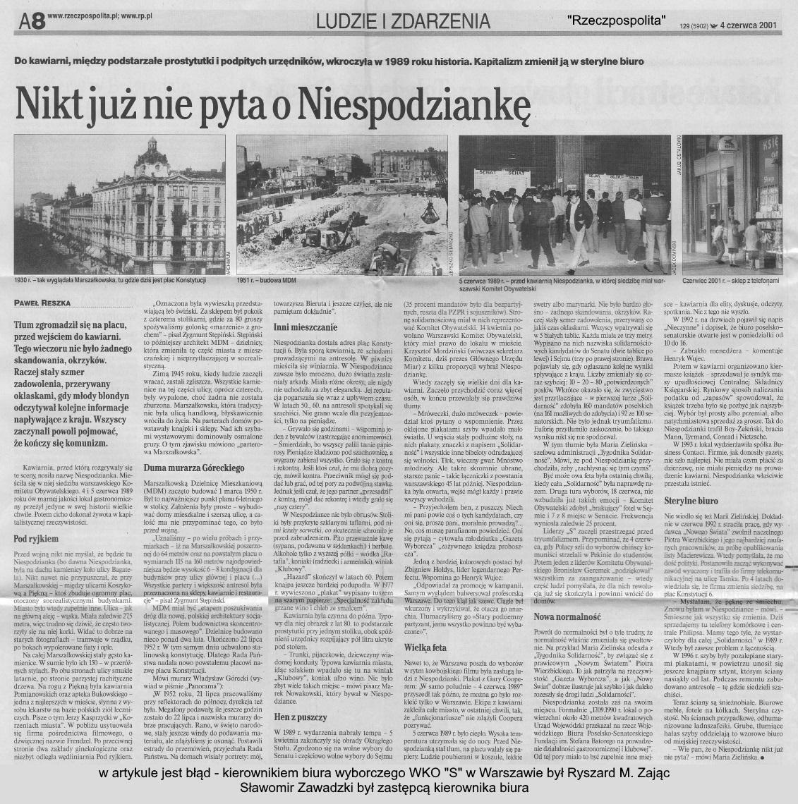 """niespodzianka Warszawskie biuro wyborcze """"S"""" - NIESPODZIANKA"""